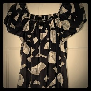 Black White Grey Print Dress